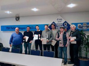 Die 4. Herren wurden als Meister der Bezirksliga geehrt.